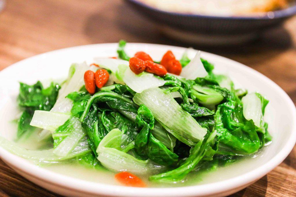 雞汁鹽水燙青菜