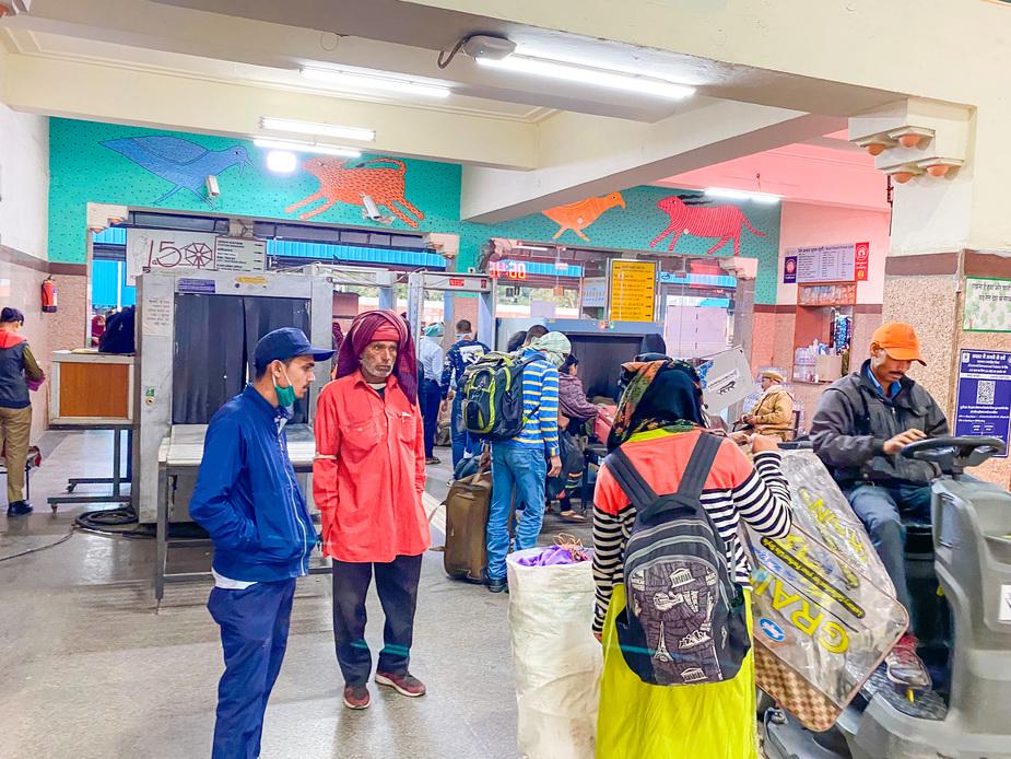 印度火車站安檢