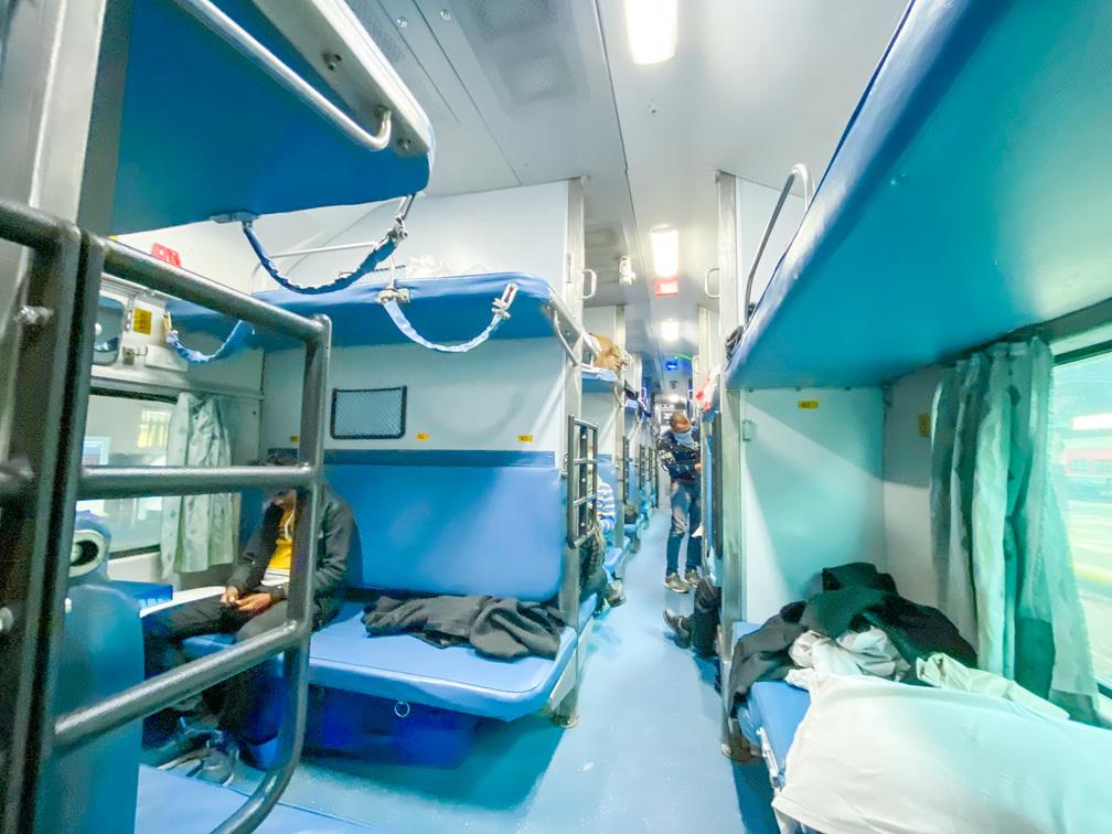 印度火車AC3座位區